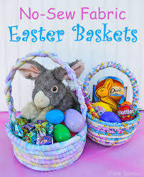baskets for easter unique no sew fabric easter basket tutorial