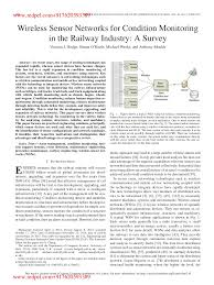 wireless sensor networks for condition monitoring in the railway indu u2026