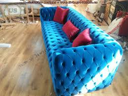 velvet blue chesterfield sofa exclusive design ideas