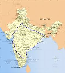 How To Draw A Route On Google Maps Golden Quadrilateral Wikipedia