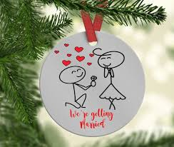 custom engagement ornament save the date engagement gift
