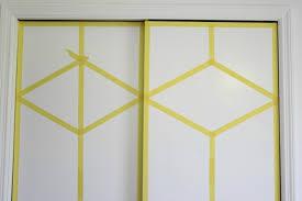 Paint Closet Doors Diy Painted And Patterned Doors