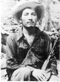Lucio Cabañas, líder de la guerrilla del Partido de los Pobres, de Guerrero.