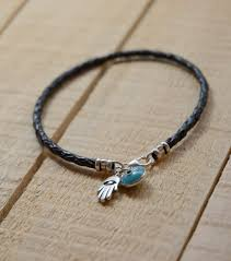 black leather charm bracelet images The classic evil eye charm bracelet with hamsa hand in sterling jpg
