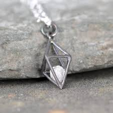 diamond necklace diamond pendant images 3d diamond pendant caged rough diamond necklace a second time JPG
