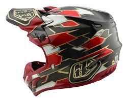 motocross helmet 2018 troy lee designs se4 maze black red carbon motocross helmet