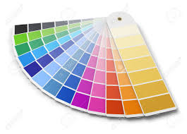 palette pantone pantone color palette guide isolated on white background stock photo