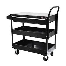 Rolling Metal Cabinet Shop Excel 37 6 In X 37 In 1 Drawer Steel Tool Cabinet Black At