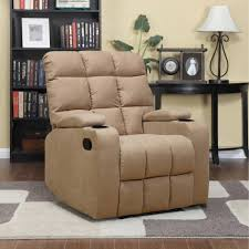 Leather Recliner Chair With Cup Holder Prolounger Storage Arm Wall Hugger Microfiber Recliner Multiple