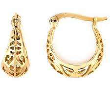 earrings s danecraft 24kt gold silver open basket s hoop earrings boscov s