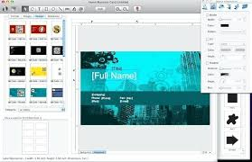 fascinating business card software mac free cards online templates
