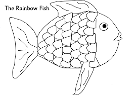 coloring download the rainbow fish coloring page the rainbow