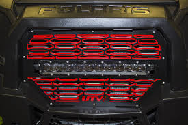 Led Grill Light Bar by Utv Inc Polaris Rzr Xp 1000 U0026 900s 2 Tone Black U0026 Red Rigid Led