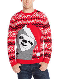 alex stevens men u0027s slothy christmas ugly christmas sweater at
