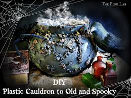 old world halloween ornaments diy plastic cauldron to old u0026 spooky the pink lab