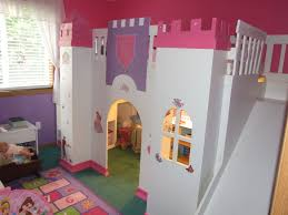 Princess Bedroom Ideas Diy Castle For Kids Princess Loft Bed With Slide Kids