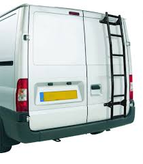 volkswagen van back vauxhall movano 2002 2010 rhino rear door ladder