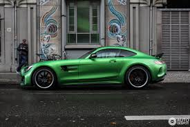 green mercedes benz 2017 mercedes amg gt r spotted flaunting its amg green hell magno