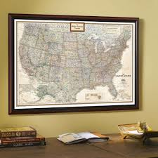 United States Wall Map by Framed U0026 Laminated Wall Maps National Geographic Store