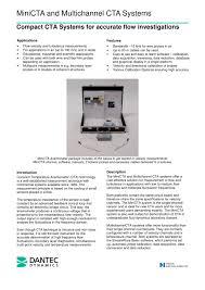 minicta multichannel cta anemometer system dantec dynamics a s