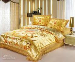 Tapestry Duvet Tranditional Tapestry Satin Gold Dragon Wedding Bedding Sets For