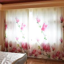 Floral Curtains White Floral Beautiful Insulated Wide Curtains