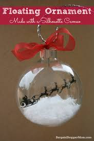 floating ornament made with adhesive vinyl and a silhouette cameo