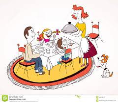 My Plate Worksheets Kids Eating Dinner Clipart