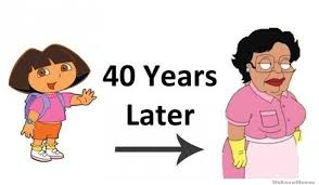 Family Guy Cleaning Lady Meme - dora the explorer 40 years later weknowmemes