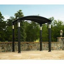 Gazebos With Hard Tops by Bbq Pro Grill Gazebo With Integrated Post Speakers And Lights