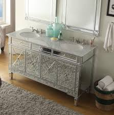 60 u201d all mirrored reflection ashlia double sink bathroom sink