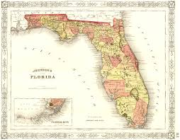 Florida Map Image by Old Maps Jacqui Thurlow Lippisch