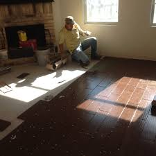 glamorous vinyl wood plank over tile floor installation for