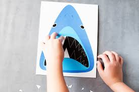 find sharky u0027s teeth printable shark game u2014 all for the boys
