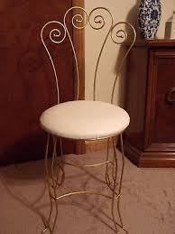 Vintage Vanity Chair Vintage Hollywood Regency Style Gold Metal Scroll Vanity Chair