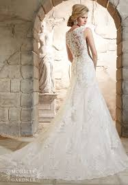 mori bridal mori bridal 2785 lace fit and flare wedding dress
