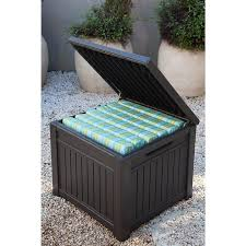 keter 55 gallon resin cube storage outdoor deck box table bench
