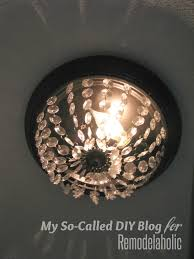 Kitchen Dome Light by Remodelaholic Update A Dome Ceiling Light With Faceted Crystals