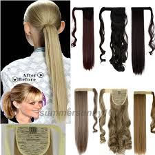 Real Ponytail Hair Extensions by Popular Clip Hair Extension Synthetic Ponytail Buy Cheap Clip Hair