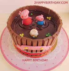 peppa pig birthday cakes peppa pig birthday cake with kid s name 2happybirthday