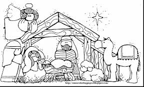 outstanding baby jesus nativity coloring pages nativity scene