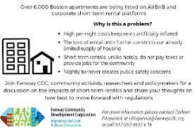 boston airbnb rentals cause fenway communiity development corp to