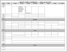 Scheduling Spreadsheet Large Families On Purpose Scheduling For Fall How I Create Our