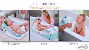 Baby Bath Tub With Shower Summer Infant S New Lil Luxuries Whirlpool Bubbling Spa Shower
