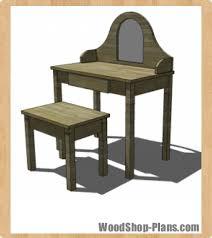 Bathroom Vanity Woodworking Plans Vanity And Bench Woodworking Plans Woodshop Plans