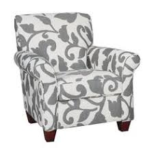 Gray And White Accent Chair Yvette Steel Accent Chair My Home Steel Living