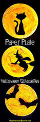 halloween paper plate silhouette crafts u2013 the pinterested parent