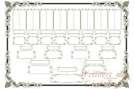 free family tree chart 5 generations printable empty to fill in
