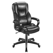 High Back Leather Armchair Realspace Fosner High Back Bonded Leather Chair 48 H X 28 38 W X