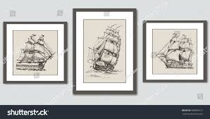 frames on wall vector hand drawn stock vector 585805217 shutterstock